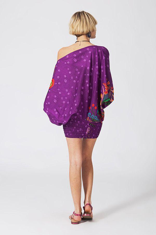 Sarouel d'été violet en coton transformable 3 en 1 Zara 289370