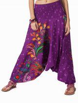 Sarouel d'été violet en coton transformable 3 en 1 Zara 292338