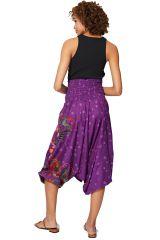Sarouel d'été violet en coton transformable 3 en 1 Zara 325492