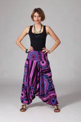 Sarouel d'été violet vêtement multifonctions 3 en 1 Jenny 289381