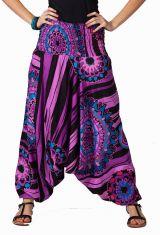 Sarouel d'été violet vêtement multifonctions 3 en 1 Jenny 292328
