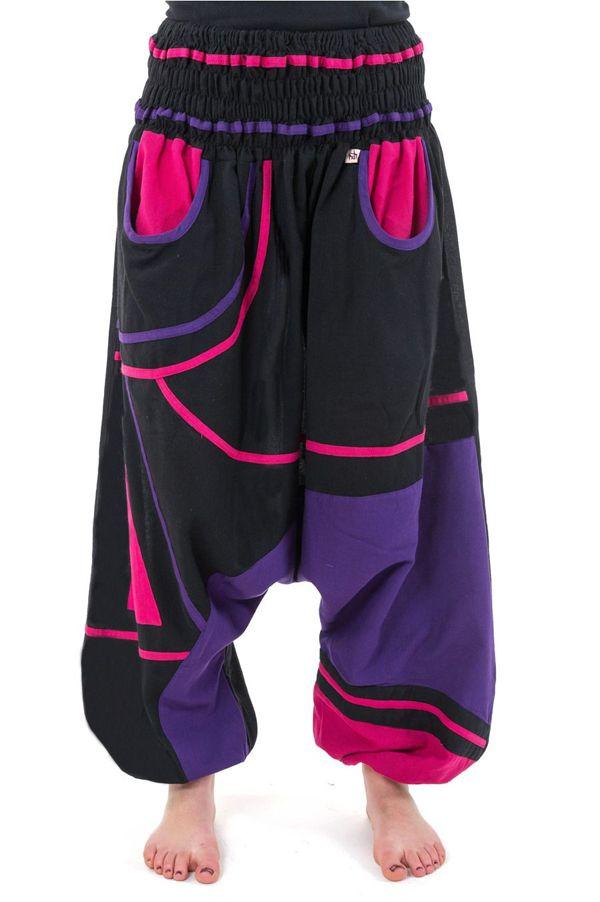 Sarouel élastique en coton coloré tendance à poches Kopee 304665