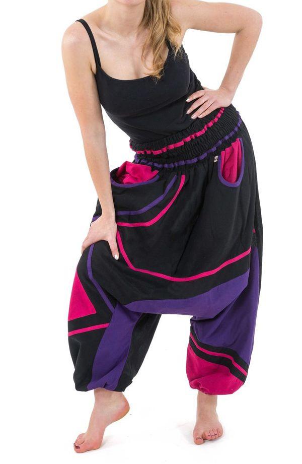 Sarouel élastique en coton coloré tendance à poches Kopee 304666