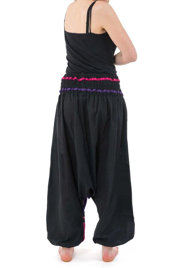 Sarouel élastique en coton coloré tendance à poches Kopee 304667