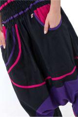 Sarouel élastique en coton coloré tendance à poches Kopee