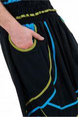 Sarouel élastique en coton original tendance à poches Kopee 302787