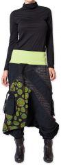 Sarouel en Velours pour femme Coloré et Ethnique Sepiks Vert 276179