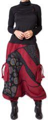 Sarouel en Velours pour femme Ethnique et Coloré Sepiks Rouge 276175