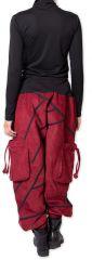 Sarouel en Velours pour femme Ethnique et Coloré Sepiks Rouge 276176