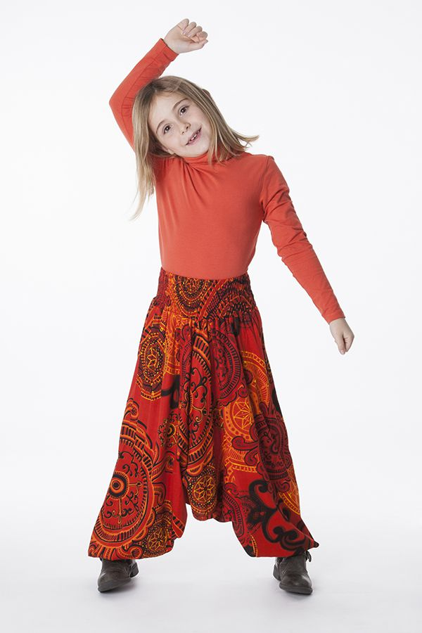 Sarouel Enfant 3 en 1 Transformable en Tunique Rosine 286311