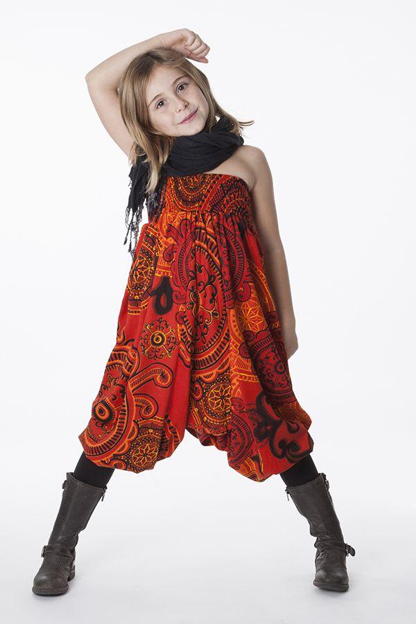 Sarouel Enfant 3 en 1 Transformable en Tunique Rosine 286312