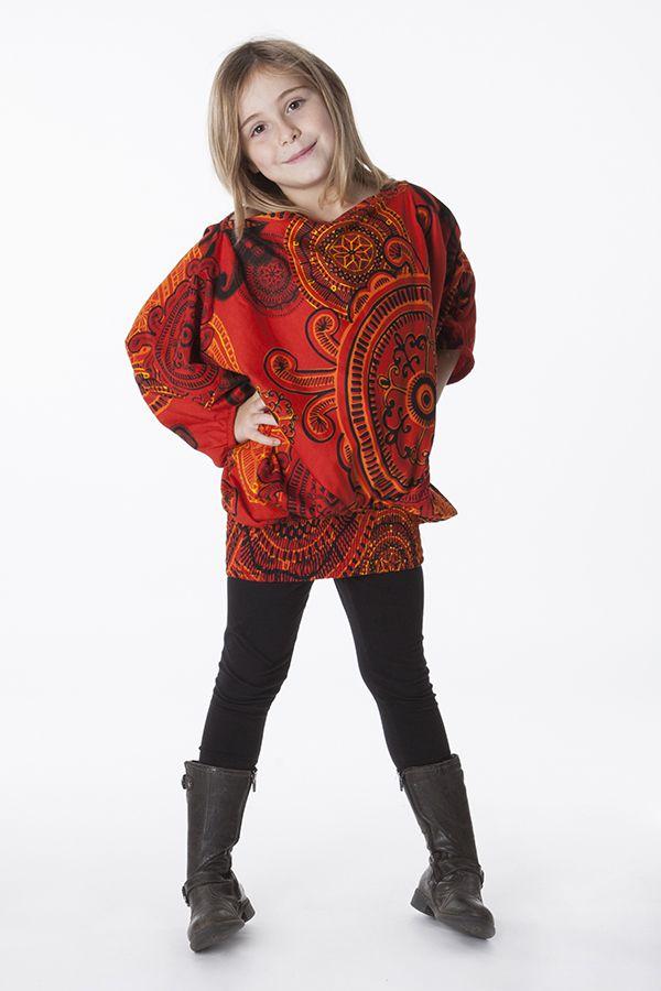 Sarouel Enfant 3 en 1 Transformable en Tunique Rosine 286313