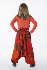 Sarouel Enfant 3 en 1 Transformable en Tunique Rosine 286314