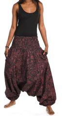 Sarouel ethnique avec un imprimé original pour femme Bikou 305564