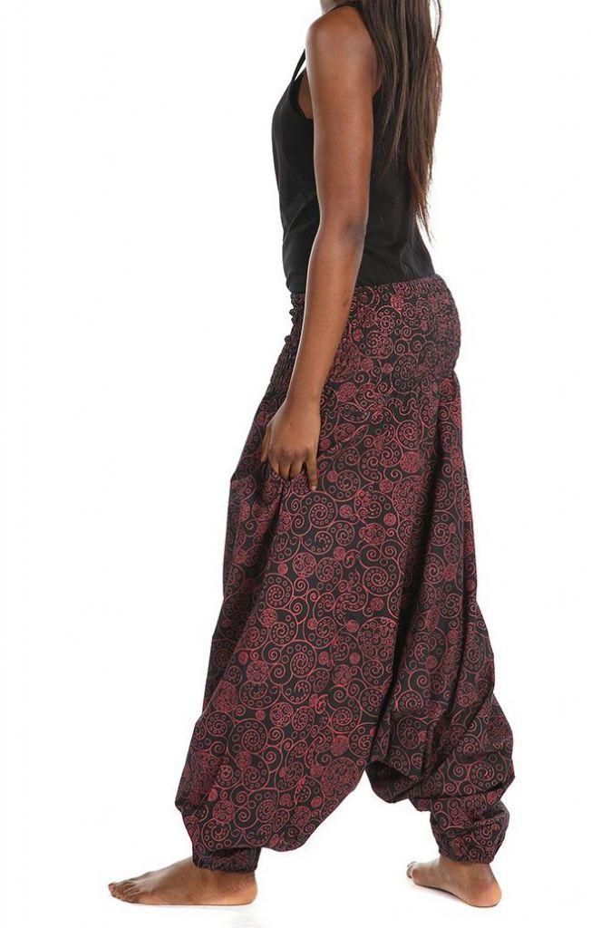 Sarouel ethnique avec un imprimé original pour femme Bikou 305565