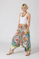 Sarouel ethnique blanc vêtement multifonctions 3 en 1 Yasmina 289395