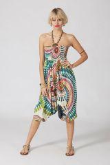 Sarouel ethnique blanc vêtement multifonctions 3 en 1 Yasmina 289396