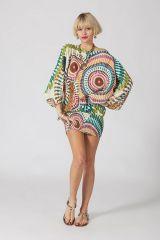 Sarouel ethnique blanc vêtement multifonctions 3 en 1 Yasmina 289397