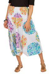 Sarouel ethnique blanc vêtement transformable 3en1 Chevy 292314