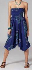 Sarouel ethnique de couleur bleu Lilly 269471