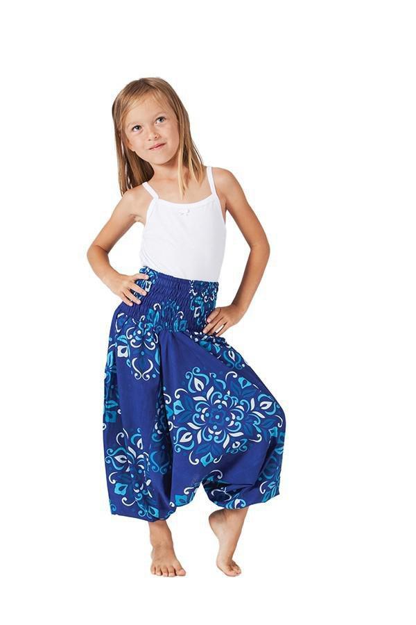 Sarouel Ethnique et Coloré 3en1 pour Enfant Mandy Bleu 322073