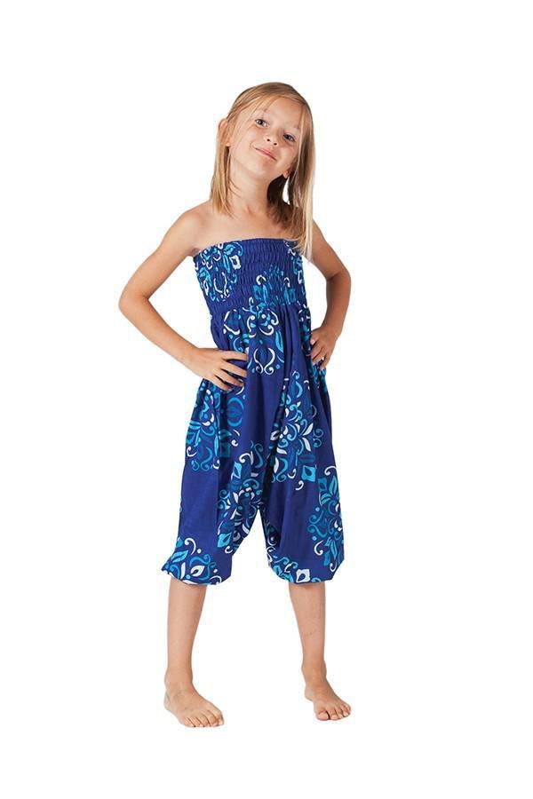 Sarouel Ethnique et Coloré 3en1 pour Enfant Mandy Bleu 322075