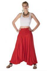 Sarouel ethnique femme 3 en 1 rouge Gianni 287980