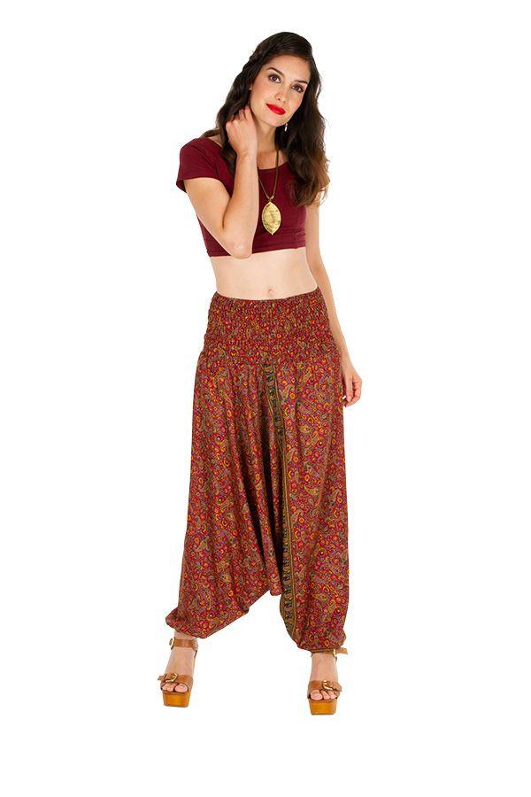 Sarouel femme 3 en 1 Indien pour un look bohème tendance Minah 311529