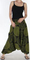 Sarouel Femme 3en1 Ethnique et Original Julen Noir et Anis 275481