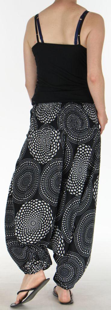 Sarouel Femme 3en1 Ethnique et Original Julen Noir et Blanc 275480