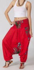 Sarouel femme 3en1 pas cher ethnique et original rouge 270333