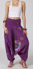 Sarouel femme 3en1 pas cher ethnique et original violet 270367
