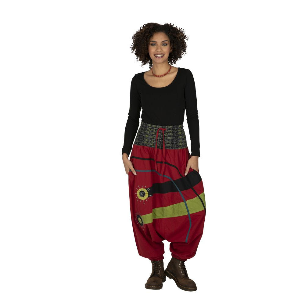 Sarouel femme à porter original mode chic ethnique Shann 323304