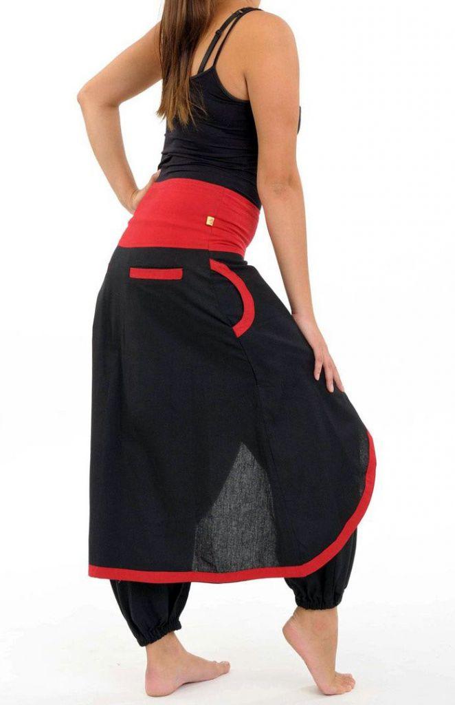 Sarouel femme avec un effet jupe en coton du Népal Minay 305470