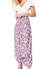 Sarouel femme été 3en1 imprimé tendance fleurs boho Aneesa
