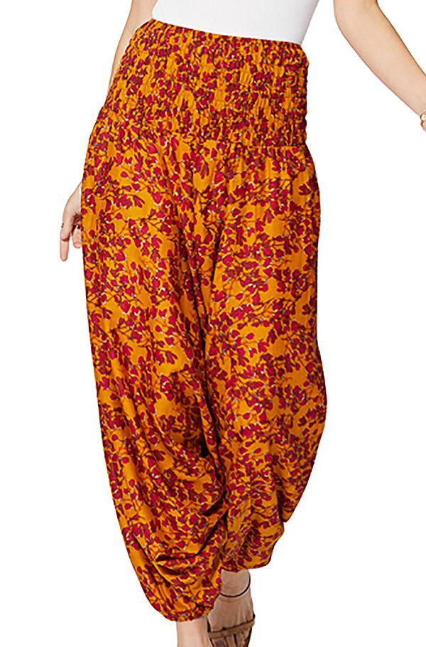 Sarouel femme été 3en1 orange tendance à fleurs Adeeba