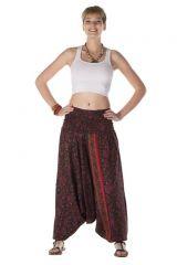 Sarouel femme ethnique 3 en 1 imprimés indien Ewann 288028