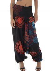 Sarouel femme ethnique et chic en coton pour l'été Roxana 291457