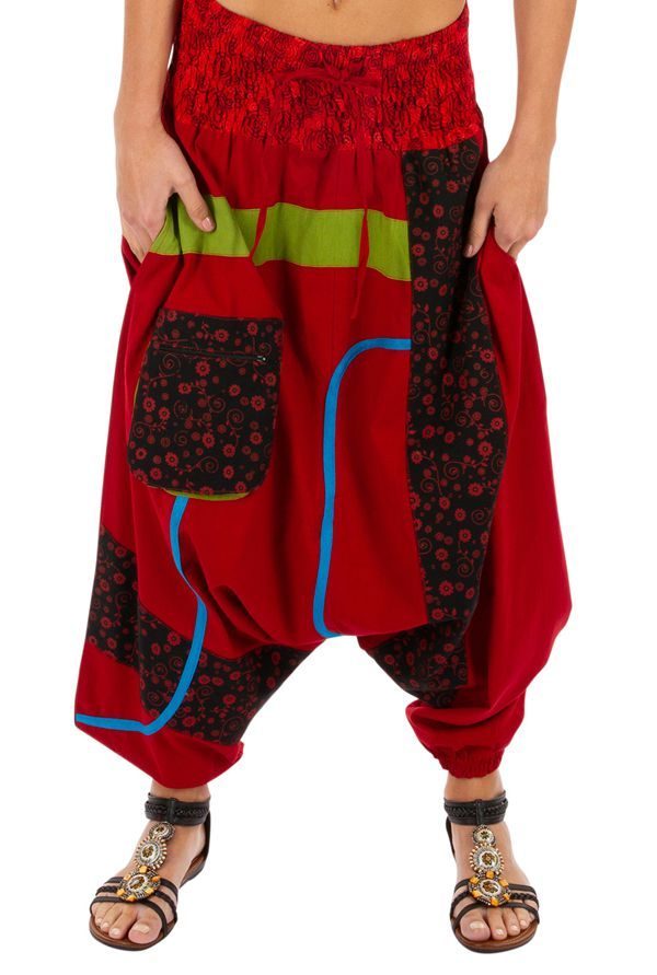 Sarouel femme ethnique et très original Owando rouge 313965