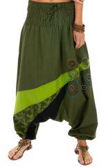 Sarouel femme ethnique sarouel homme pas cher Allada vert 313602