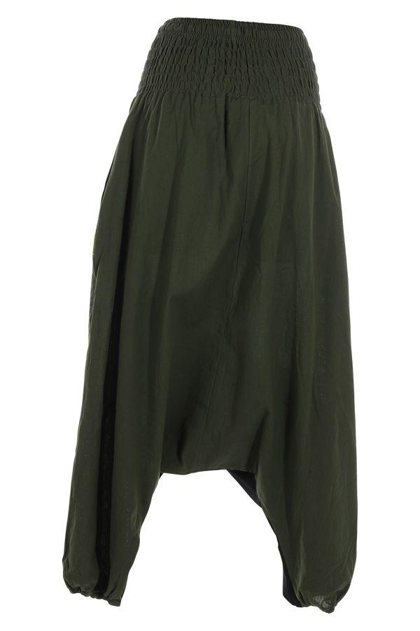 Sarouel femme ethnique sarouel homme pas cher Allada vert 315020