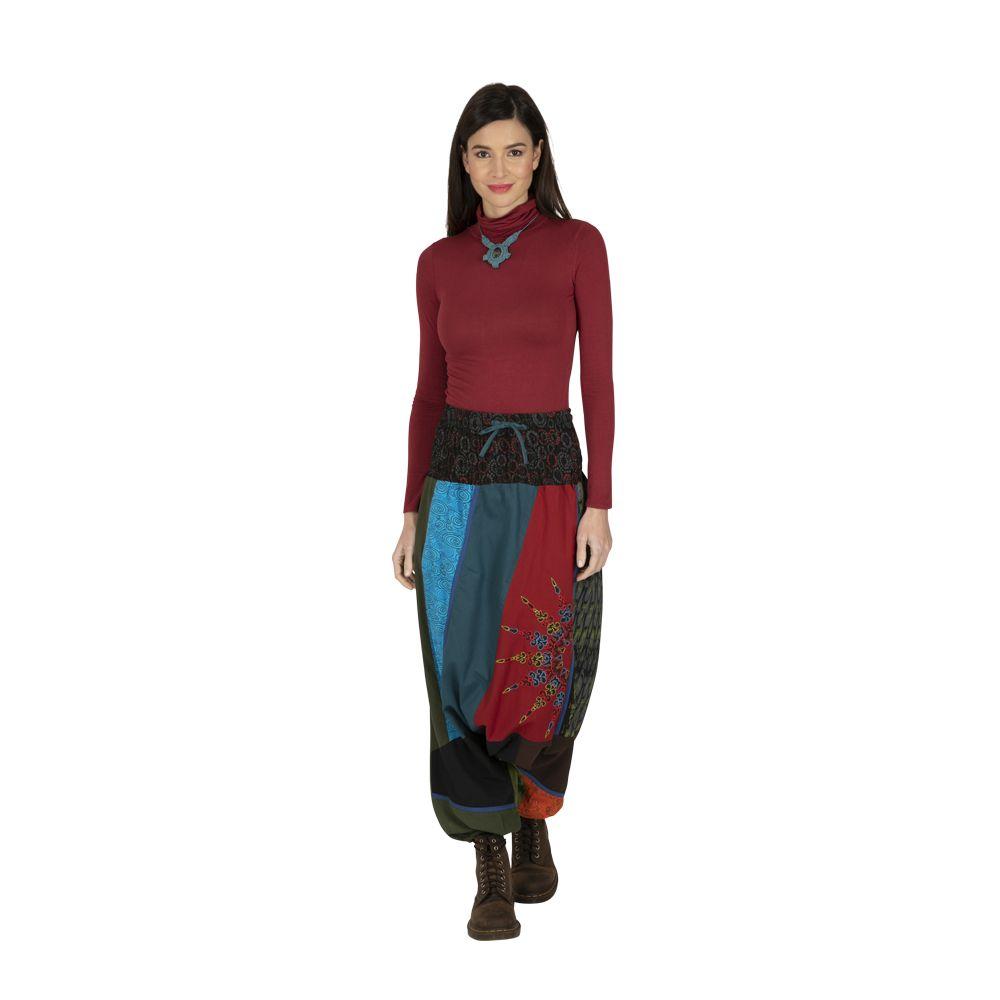 Sarouel femme ethnique très coloré fourche basse Eliott 323322