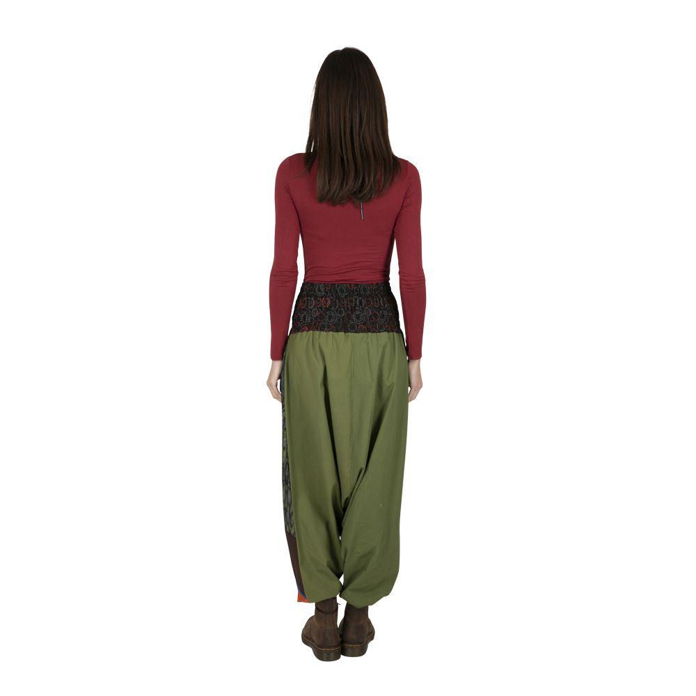 Sarouel femme ethnique très coloré fourche basse Eliott 323323