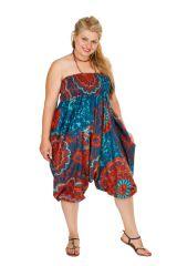 Sarouel femme grande taille imprimé floral et exotique très coloré Abi 306376