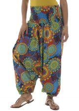 Sarouel femme multicolor en coton pour l'été Roxana 291455