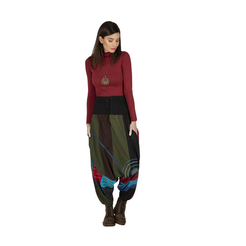 Sarouel femme original en coton imprimé ethnique Luis 323332