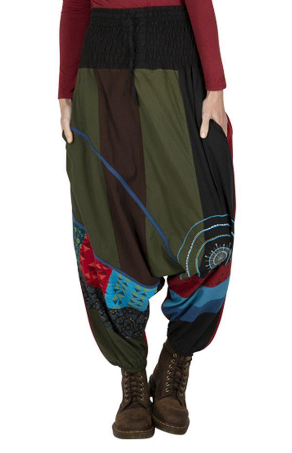 Sarouel femme original en coton imprimé ethnique Luis 323336