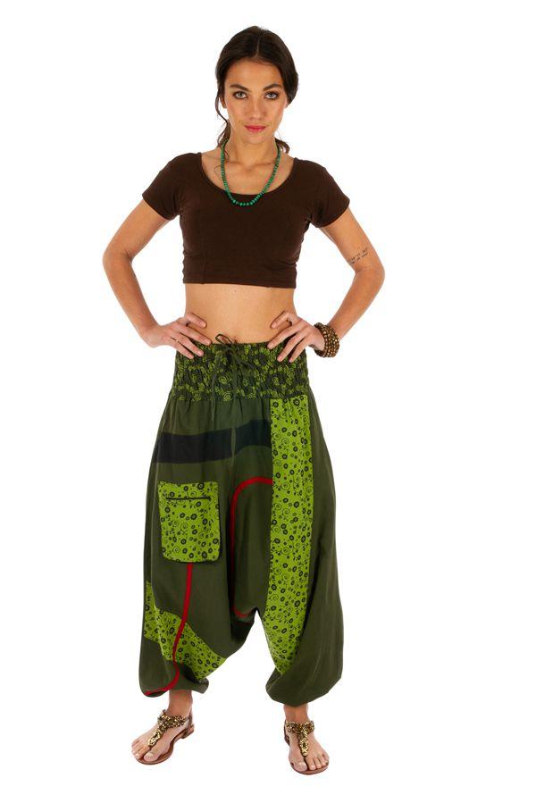Sarouel femme pas cher et top tendance Owando vert 313969
