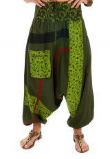 Sarouel femme pas cher et top tendance Owando vert 313971