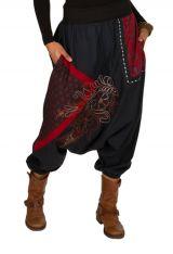 Sarouel femme Rouge avec imprimés tendances et poches Amine 301278
